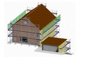 Ausarbeitung einer Gerüstplanung duch die Bauleitung der Gemeinhardt Gerüstbau Service GmbH www.spezialgeruestbau.de