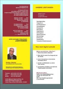 Visitenkarte Walter Stuber